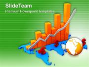 Euro Growth Using Bar Graph PowerPoint Templates PPT Themes And Graphi