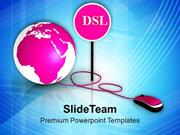 Global Issues To Be Solved With DSL PowerPoint Templates PPT Themes An