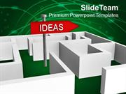 Ideas For Business Growth In Labyrinth PowerPoint Templates PPT Themes
