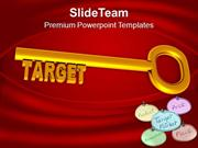 Key To Achieve The Target To Success PowerPoint Templates PPT Themes A