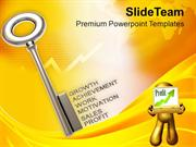 Key To Profit With Growth PowerPoint Templates PPT Themes And Graphics