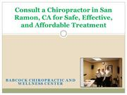 Consult a Chiropractor in San Ramon, CA