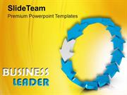 Leader Leading Team As Curved Arrows PowerPoint Templates PPT Themes A