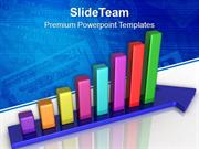 Progress In Business Using Bar Graph PowerPoint Templates PPT Themes A