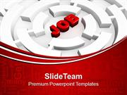 Searching Job Hard To Find It In Labyrinth PowerPoint Templates PPT Th