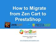 How to Migrate from Zen Cart to PrestaShop