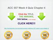 ACC 557 Week 4 Quiz Chapter 4