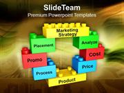 Lego Blocks Forming Circle Marketing Strategy PowerPoint Templates PPT
