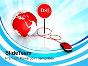 Red Mouse Tied With Red Globe PowerPoint Templates PPT Themes And Grap