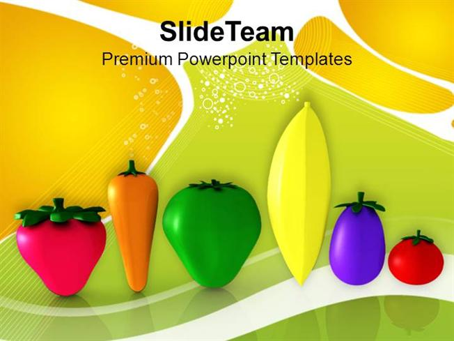 vegetables good for health nutrition powerpoint templates ppt them, Modern powerpoint