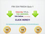 FIN 534 FIN534 Quiz 1 New Syllabus