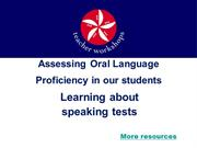Assessing Oral Language (Speaking Skills