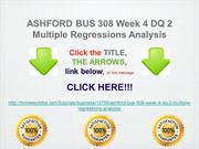 ASHFORD BUS 308 Week 4 DQ 2 Multiple Regressions Analysis