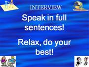 Interview and Placement test of students