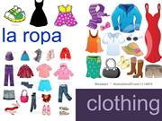 La ropa clothing in Spanish
