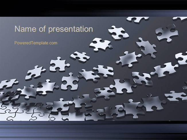 Lines Of Puzzle Pieces Powerpoint Template Authorstream