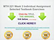 MTH 221 Week 3 Individual Assignment Selected Textbook Exercises