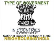 Type of Government in indian neighbouring countries