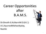 Career Opportonities after Bams
