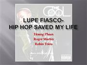 hip hop saved my life project