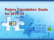 Rotary Foundation Goals for 2013-2014-by Michel Jazzar