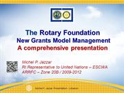 TRF Grants new model-comprehensive ppt