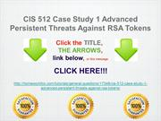 CIS 512 Case Study 1 Advanced Persistent Threats Against RSA Tokens