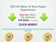 CIS 512 Week 10 Term Paper Hypervisors