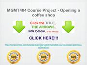 MGMT404 Course Project - Opening a coffee shop