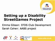 EFDS Disability StreetGames Clubs