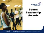 Sports Leadership Awards