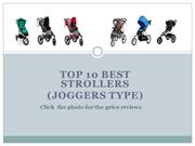 Top 10 best Strollers (Joggers type)