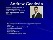 Andrew Goodwin Theory Research