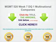 MGMT 520 Week 7 DQ 1 Multinational Companies