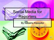 Socialmedia in reporting with audio