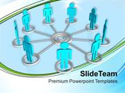 3d Men Interconnection Teamwork PowerPoint Templates PPT Themes And Gr