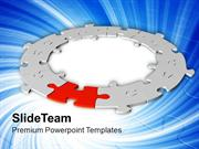 Circle Of Jigsaw Puzzles Strategy PowerPoint Templates PPT Themes And
