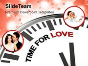Clock With Words Time For Love PowerPoint Templates PPT Themes And Gra