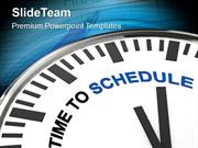 Clock With Words Time To Schedule PowerPoint Templates PPT Themes And