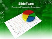 Colorful Pie Chart On Linear Graph PowerPoint Templates PPT Themes And