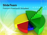 Colorful Pie Chart With Bar Graph PowerPoint Templates PPT Themes And