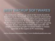 best backup softwares
