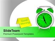 Alarm Clock For Time Management PowerPoint Templates PPT Themes And Gr