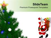 Christmas With Santa Clause Celebration PowerPoint Templates PPT Theme