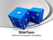 Dice Casino Game Theme PowerPoint Templates PPT Themes And Graphics 04