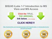 BIS245 iLabs 1-7 Introduction to MS Visio and MS Access