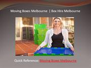 Moving Boxes Melbourne  | Box Hire Melbourne