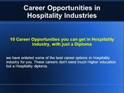 Careers in Hotel Industry