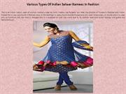 Various Types Of Indian Salwar Kameez In Fashion