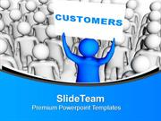 Customer Satisfaction Is Necessary For Business PowerPoint Templates P
